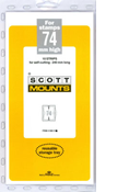 ScottMount 74x240 Stamp Mounts - Clear