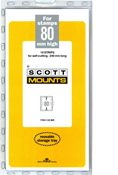 ScottMount 80x240 Stamp Mounts - Black