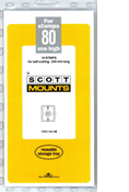 ScottMount 80x240 Stamp Mounts - Clear