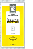 ScottMount 82x240 Stamp Mounts - Clear