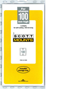 ScottMount 100x240 Stamp Mounts - Black
