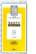 ScottMount 120x240 Stamp Mounts - Black