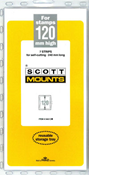 ScottMount 120x240 Stamp Mounts - Clear