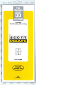 ScottMount 55x265 Stamp Mounts - Black