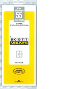 ScottMount 55x265 Stamp Mounts - Clear