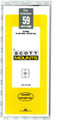 ScottMount 59x265 Stamp Mounts - Black