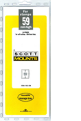ScottMount 59x265 Stamp Mounts - Clear