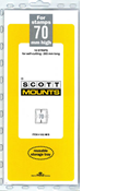 ScottMount 70x265 Stamp Mounts - Black