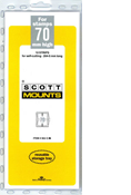 ScottMount 70x265 Stamp Mounts - Clear