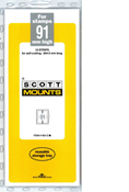 ScottMount 91x265 Stamp Mounts - Clear