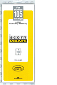 ScottMount 105x265 Stamp Mounts - Black