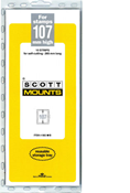 ScottMount 107x265 Stamp Mounts - Black
