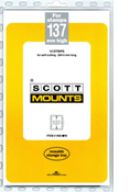ScottMount 137x265 Stamp Mounts - Black