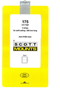ScottMount 175x265 Stamp Mounts - Clear
