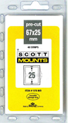 ScottMount 67x25 Stamp Mounts - Black