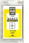 ScottMount 67x25 Stamp Mounts - Clear
