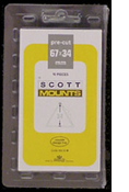 ScottMount 67x34 Stamp Mounts - Clear