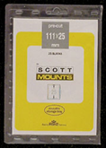 ScottMount 111x25 Stamp Mounts - Black