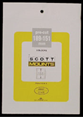 ScottMount 189x151 Stamp Mounts - Clear