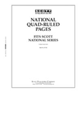 Scott National Blank Pages - Quadrille