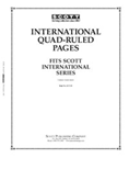 Scott International Blank Pages - Quadrille