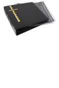 Scott Stamp Cover Binder and 25 Black Pages - Black