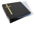 Scott Stamp Cover Binder and 20 Clear Pages - Black