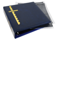Scott Stamp Cover Binder and 25 Black Pages - Blue