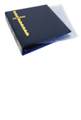 Scott Stamp Cover Binder and 20 Clear Pages - Blue