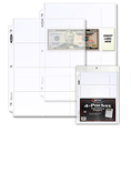 BCW 4-Pocket Currency Page (20-Pack)