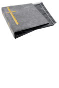 Scott Stamp Cover Binder and 25 Black Pages - Gray