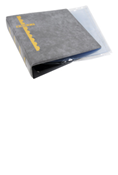 Scott Stamp Cover Binder and 20 Clear Pages - Gray