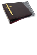 Scott Stamp Cover Binder and 25 Black Pages - Burgundy