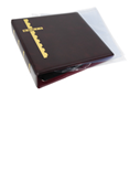 Scott Stamp Cover Binder and 20 Clear Pages - Burgundy