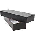 2x2 Double Row Storage Box - Black