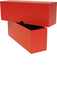 Single Row Certified Coin Storage Box - Red