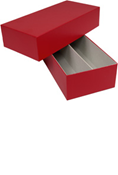 Double Row Certified Coin Storage Box - Red