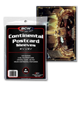 BCW Cover Sleeve - Continental Postcard (100-Pack)