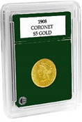 Coin World Premier Holder - 21.5mm / $5 Gold (3-Pack)