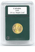 Coin World Premier Holder - 20mm / 1/4 oz. Gold Maple Leaf (3-Pack)