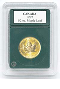 Coin World Premier Holder - 24.9mm / 1/2 oz. Gold Maple Leaf (3-Pack)