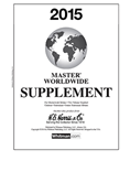2015 HE HARRIS MASTER WORLDWIDE SUPPLEMENT