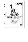 HE HARRIS PLATE BLOCK SUPPLEMENT 2005
