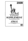 HE HARRIS PLATE BLOCK SUPPLEMENT 2009