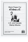 HE HARRIS US/UN/CANADA BLANK PAGES (64 SHEETS)