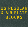 LABEL: US REGULAR & AIR PLATE BLOCKS