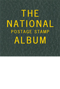 LABEL: THE NATIONAL POSTAGE STAMP ALBUM