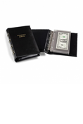 Lighthouse Small Black Currency Album w/ 20 Clear Pages
