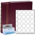 Lighthouse US Silver Eagle Dollar Capsule Album Set - Burgundy
