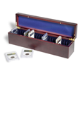 Lighthouse Mahogany Wood Storage Box for 25 Certified Coins